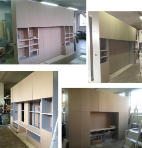 mobili in costruzione