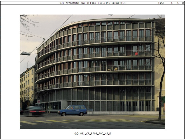 Apartment and Office Building Schwitter, Basel, Switzerland; Competition 1985, project 1985, realization 1987–1988