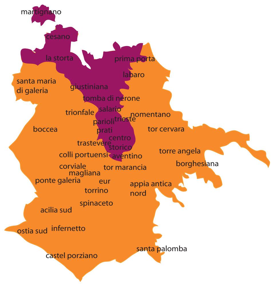 Cartina Roma Nord.Studi Sui Confini Di Roma Sud E Roma Nord Matdaro C